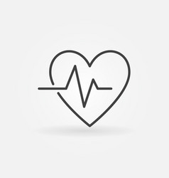 Heartbeat linear icon - heart beat vector