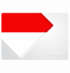 Indonesian flag design background vector
