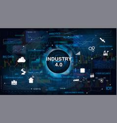 Industry 40 concept bannerv vector