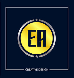 Initial letter ea logo template design vector