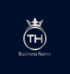 initial letter th logo template design vector image