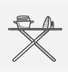 ironing hand drawn sketch icon vector image