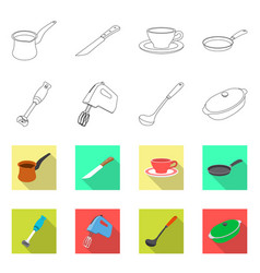 isolated object of kitchen and cook sign vector image