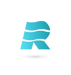 Letter R marine flag logo icon design template vector