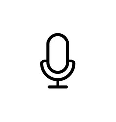 line microphone mic icon on white background vector image