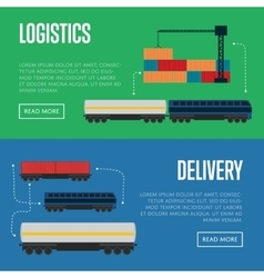 Logistics and delivery banner set vector image
