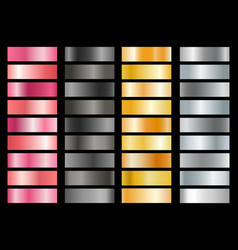 metallic swatches set vector image