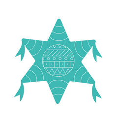 Mexican pinata flat style icon design vector