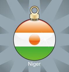 Niger flag on bulb vector image