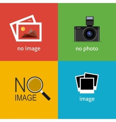 No image signs for web page vector image vector image