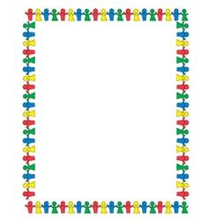 Paperdolls border vector image