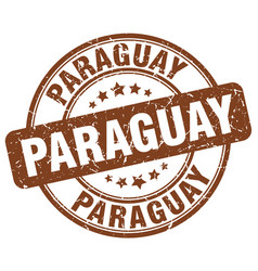 Paraguay brown grunge round vintage rubber stamp vector