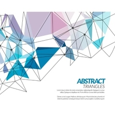 Polygonal triangle abstract shapes techno vector
