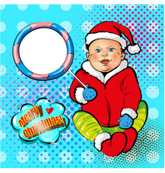 pop art of smiling baby in vector image vector image