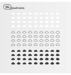 printbig set thirty-six cloud shape vector image