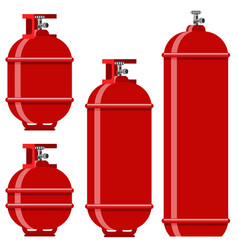 Red gas tank icon set vector