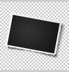 retro realistic photo frame with figured edges vector image