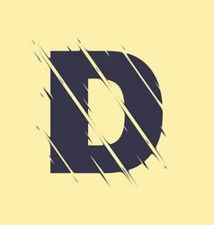 scribbled letter d vector image