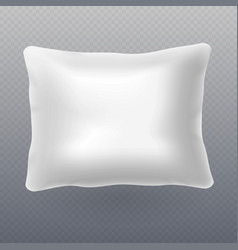 soft white realistic pillow isolated on vector image