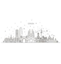 spain cityscape spanish travel city banner vector image