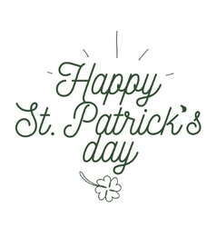 St Patricks day typography design vector