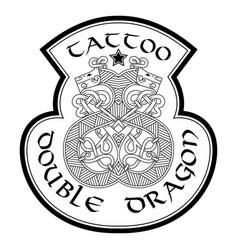 Stylish logo for tattoo studio vector