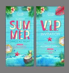 summer cocktail party poster design disco party vector image