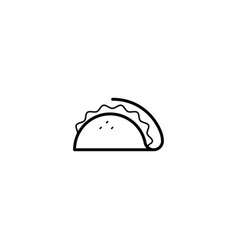 taco mexican food icon vector image