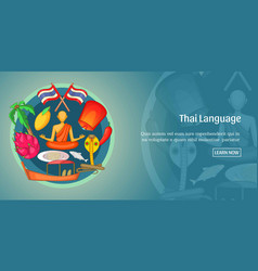 thailand banner horizontal cartoon style vector image