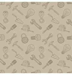 Tools drawing seamless background vector image