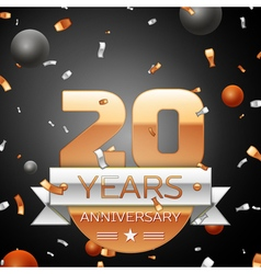 Twenty years anniversary celebration background vector