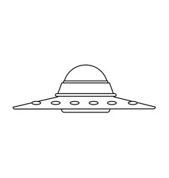 ufo saucer spaceship vehicle object icon vector image
