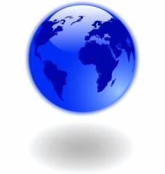 world map globe vector image