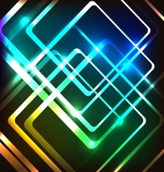 Abstract colorful background with glowing rounded vector image vector image