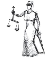 Themis Femida goddess of justice vector image