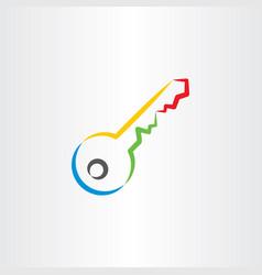 colorful key icon symbol vector image
