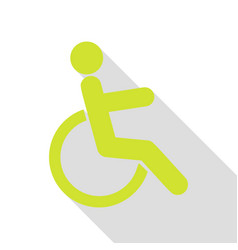 disabled sign pear icon with flat vector image vector image