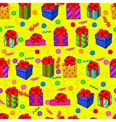 Gift colorful seamless pattern vector image vector image