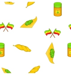 Cannabis pattern cartoon style vector image