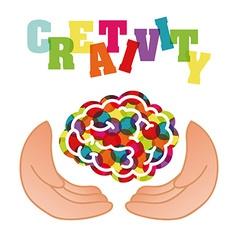 creativity brain vector image