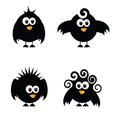 funny and sweet bird vector image vector image