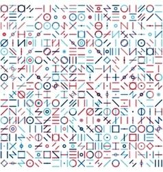 Seamless blue red colorful random geometric vector