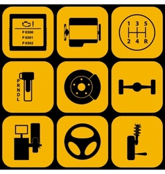 Set of automotive icons vector image