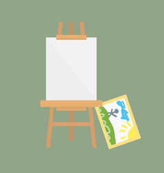 easel art board isolated for some artist vector image vector image