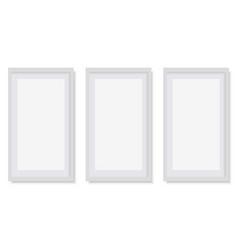 set of white square photo frames vector image