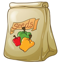 A pack of bell pepper seeds vector