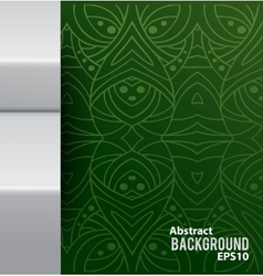 Abstract background with pattern and metal border vector image