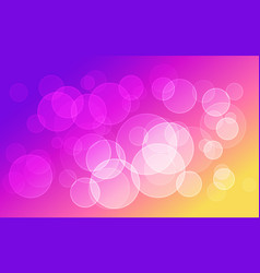 Abstract colorful bokeh circles background vector