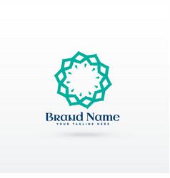 Abstract line mandala style logo concept design vector