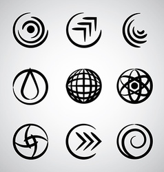 Abstract round icons vector